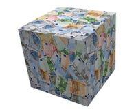 Euro banknotes box Royalty Free Stock Photo