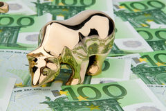 Euro banknotes. Bull and Bear Stock Photography
