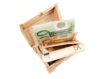 Euro banknotes in the chest Stock Image