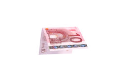 Euro banknotes close up, European currency Stock Image