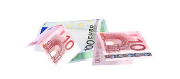 Euro banknotes close up, European currency Royalty Free Stock Image