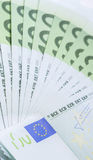 Euro banknotes of 100 close-up Stock Photo
