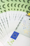 Euro banknotes of 100 close-up Stock Images