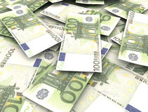 Euro banknotes. Close up image finance background stock illustration