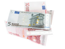 Euro banknotes closeup Royalty Free Stock Photo