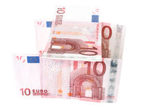 Euro banknotes closeup Royalty Free Stock Images