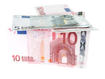 Euro banknotes closeup Stock Photos