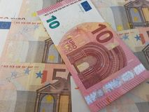 Euro banknotes and coins. Euro (EUR) banknotes and coins from Cyprus Stock Photography