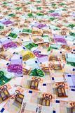 Euro banknotes collage Royalty Free Stock Image