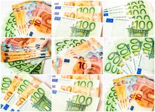 Euro banknotes collage Stock Images
