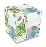 Euro banknotes cube concept Stock Photos
