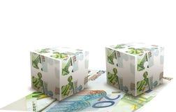 Euro banknotes cubes concept Stock Photography