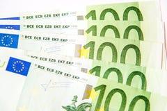 Euro banknotes. Euro currency banknotes, close up macro Royalty Free Stock Photos