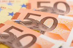 Euro banknotes and currency Royalty Free Stock Image