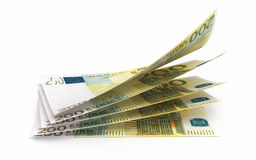 200 euro banknotes. 3d render 200 euro banknotes close-up (isolated on white and clipping path Royalty Free Stock Photos