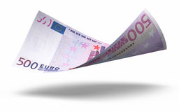 500 euro banknotes. 3d render Five hundred euro banknotes ( on white and clipping path Stock Image