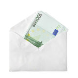 Euro banknotes in envelope Royalty Free Stock Photo