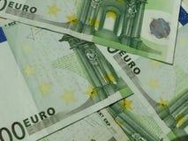 100 Euro banknotes. 100 Euro EUR banknotes - legal tender of the European Union Royalty Free Stock Photo