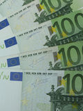100 Euro banknotes. 100 Euro EUR banknotes - legal tender of the European Union Stock Photos