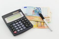 Euro banknotes, the European currency Royalty Free Stock Photo