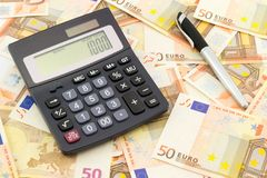 Euro banknotes, the European currency Royalty Free Stock Image
