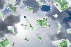 Euro Banknotes Falling Royalty Free Stock Photography