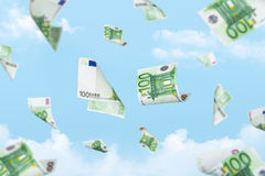 Euro Banknotes Falling Royalty Free Stock Photo