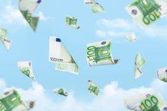 Euro Banknotes Falling Royalty Free Stock Photo