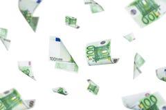 Euro Banknotes Falling Royalty Free Stock Photos