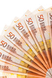 Euro banknotes fan Royalty Free Stock Photography