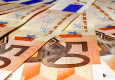 Euro banknotes, fifty Stock Photography