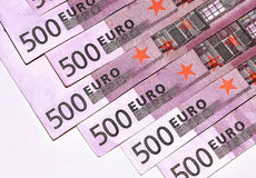 Euro banknotes, five hundred,  close-up Stock Photos