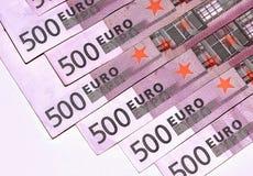 Euro banknotes, five hundred,  close-up Stock Photos