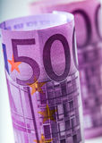 Euro banknotes. Five hundred euro banknotes.Toned Photo Royalty Free Stock Photography