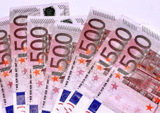 Euro banknotes, five hundred Royalty Free Stock Photos