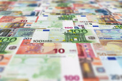 Euro banknotes floor background Stock Photos