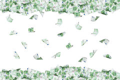 Euro Banknotes Flying and Falling Down Royalty Free Stock Photos