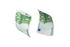 Euro Banknotes Flying Royalty Free Stock Photo