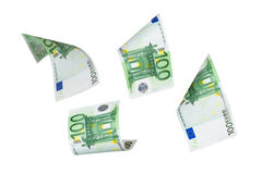 Euro Banknotes Flying Royalty Free Stock Images