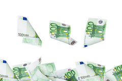 Euro Banknotes Flying Royalty Free Stock Photography