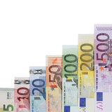 Euro Banknotes graph success topic Royalty Free Stock Photo