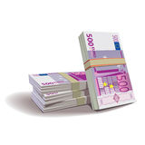 Euro banknotes illustration, financial them. Euro banknotes illustration in color, financial theme ; on background Royalty Free Illustration