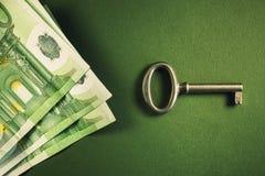 Euro Banknotes and Key Stock Photos