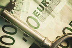 Euro Banknotes and Key Royalty Free Stock Images