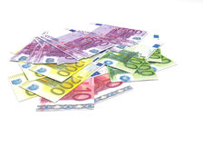 Euro banknotes - legal tender of the European Union Stock Photography