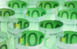 Euro banknotes money background Stock Image