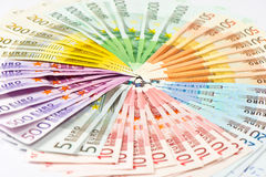 Euro banknotes. money background Stock Photos