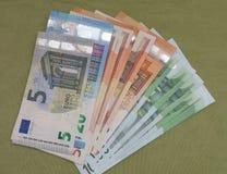Euro notes, European Union. Euro banknotes money EUR, currency of European Union Royalty Free Stock Images