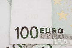 Euro banknotes. New euro banknotes as a background, close-up Stock Photo