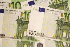 Euro banknotes. Euro notes forming texture background Stock Image